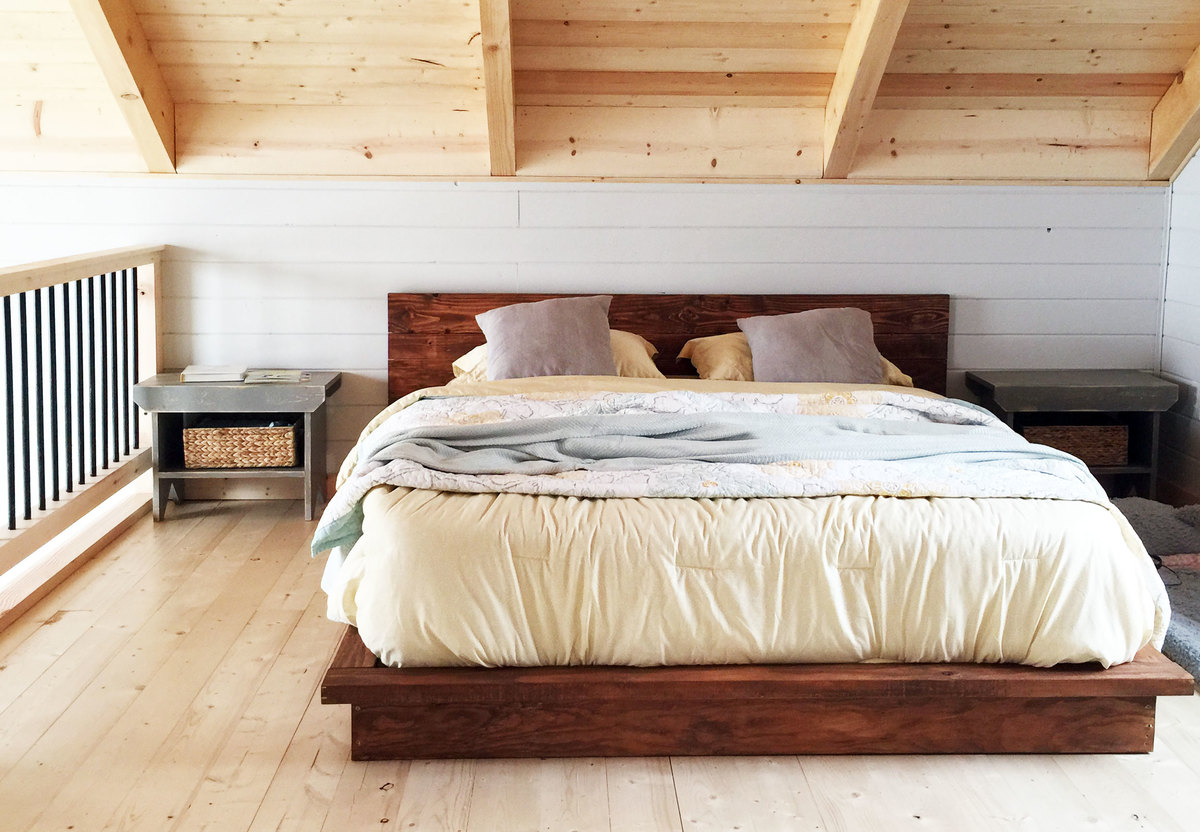 . ana white  rustic modern x platform bed  diy projects