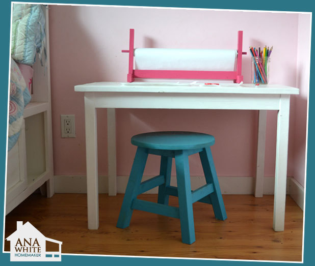 Ana White Kids Trestle Style Play Table Diy Projects