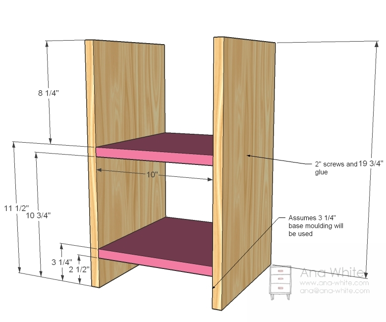building wood shelves plans