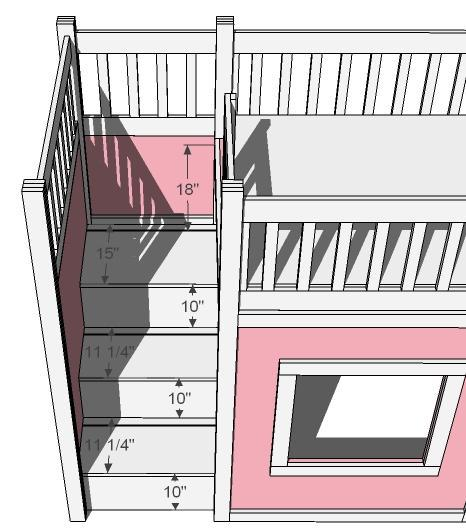 PDF Full Size Loft Bed Plans With Stairs Plans Free