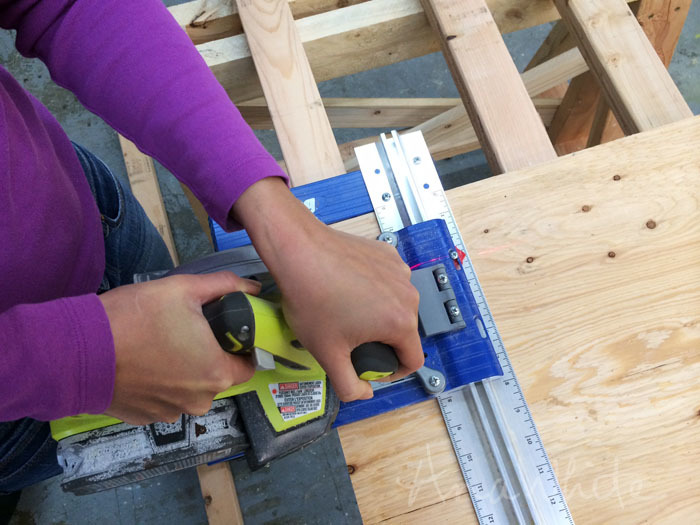 Tips to Cutting Plywood with a Circular Saw | Ana White