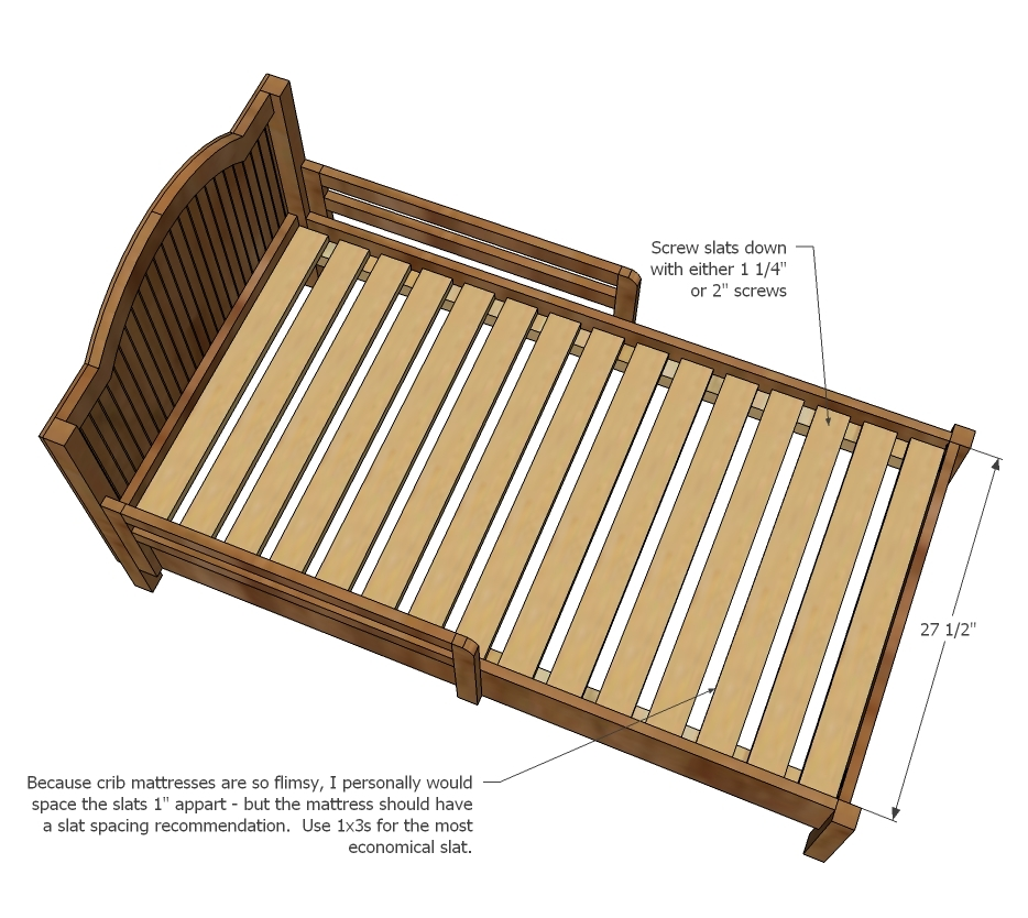 Ana White Traditional Wood Toddler Bed Diy Projects