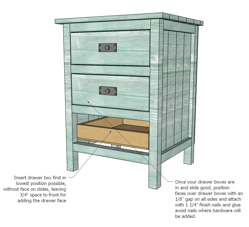 Ana White | Build a Reclaimed Wood Look Bedside Table | Free and ...