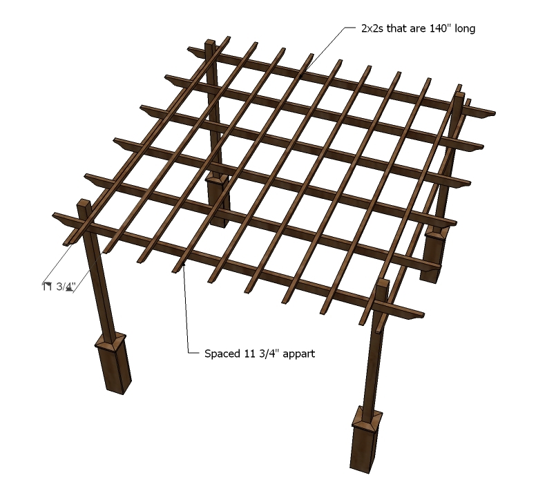 ana white weatherly pergola diy projects. Black Bedroom Furniture Sets. Home Design Ideas