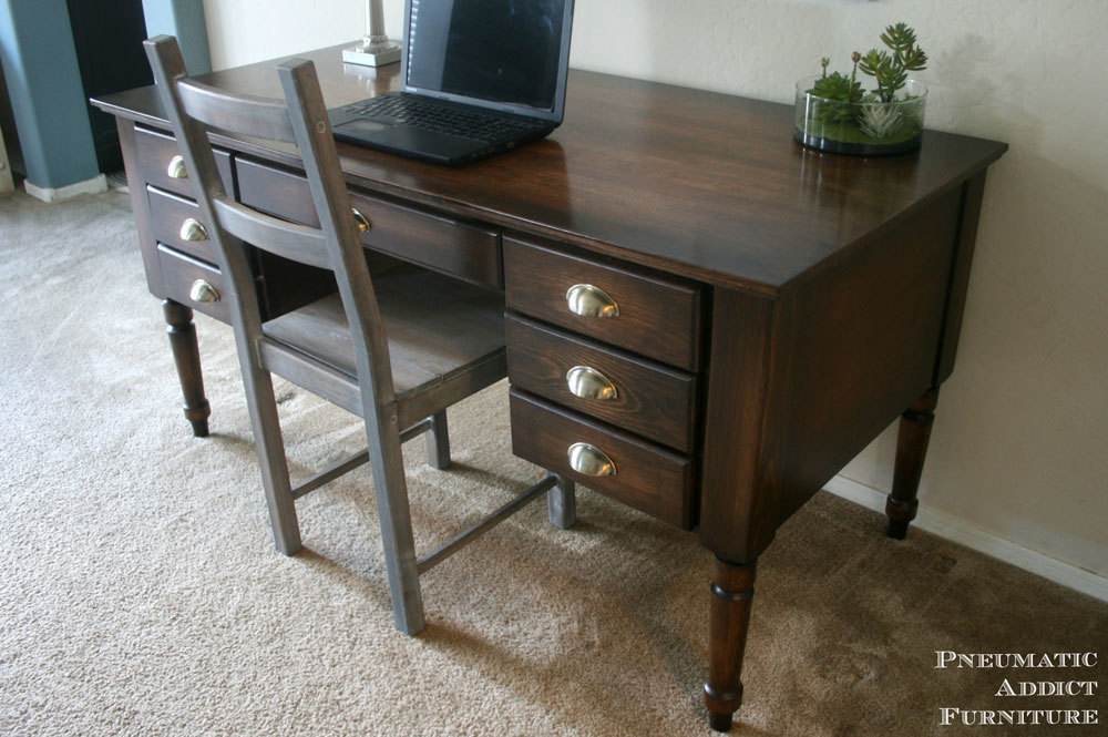 Ana White Turned Leg Traditional Desk Diy Projects