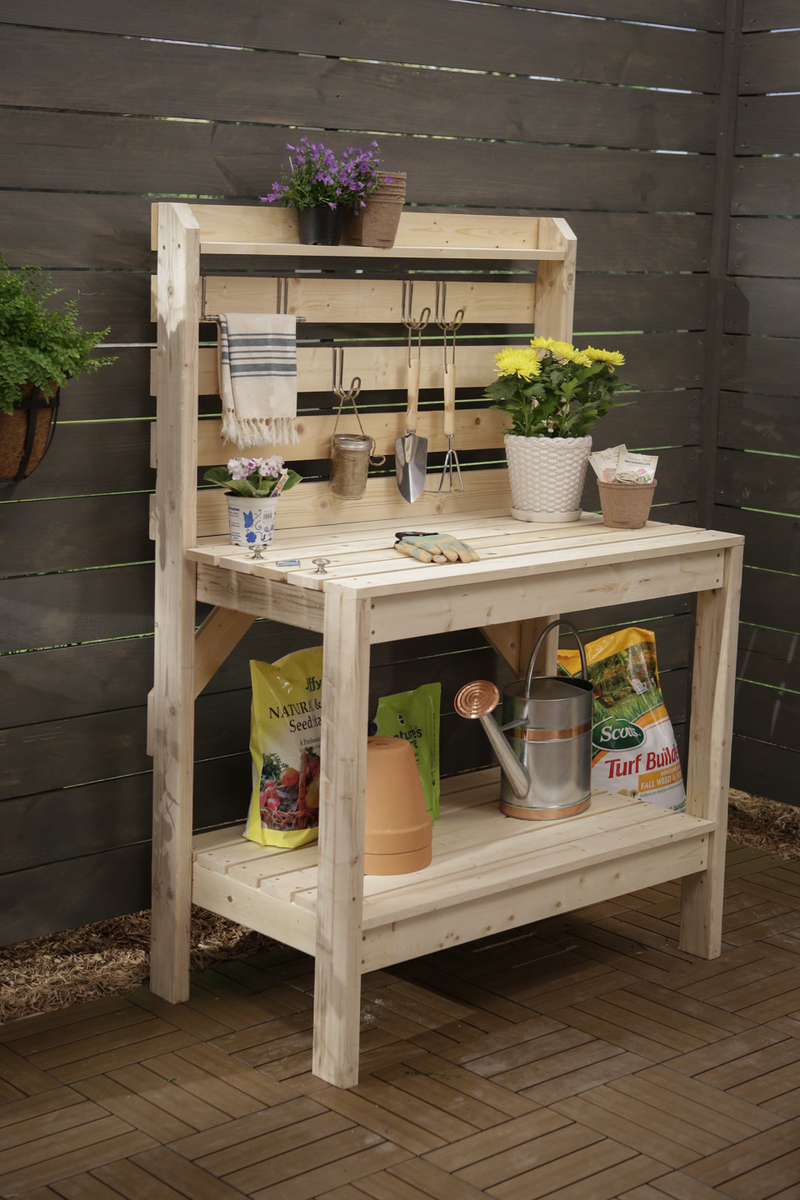 patio bench plant potting products
