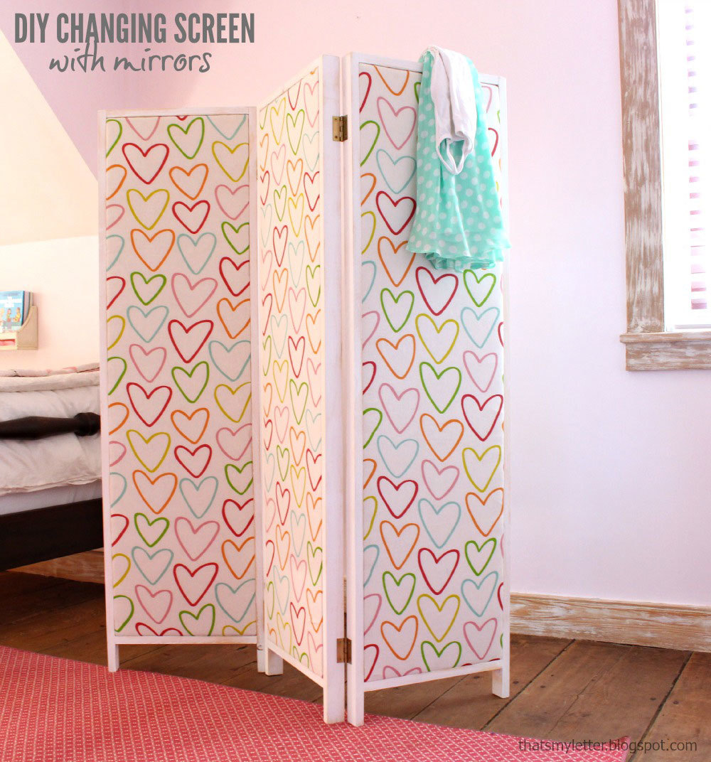 Ana White   HOW TO: Build a Mirrored Changing Screen with ...