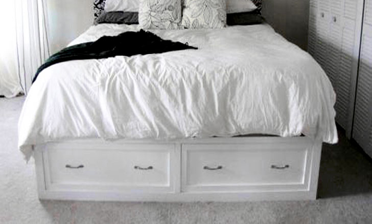 Classic Storage Bed Queen Ana White, Build A Queen Bed Frame With Storage