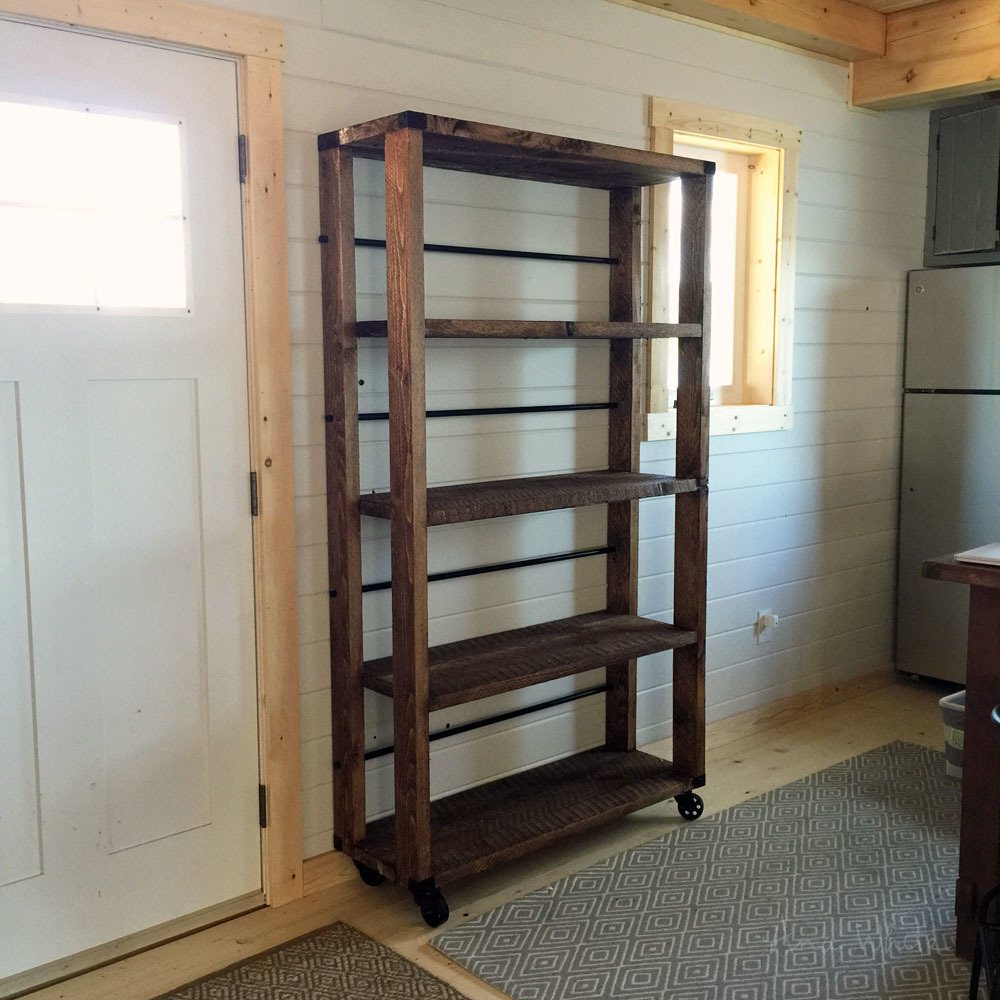 Build a bookcase from reclaimed barn wood roselawnlutheran