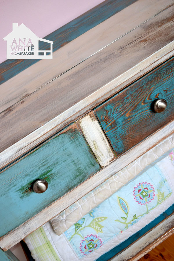 Reclaimed Wood Patchwork Multi Color Ana White