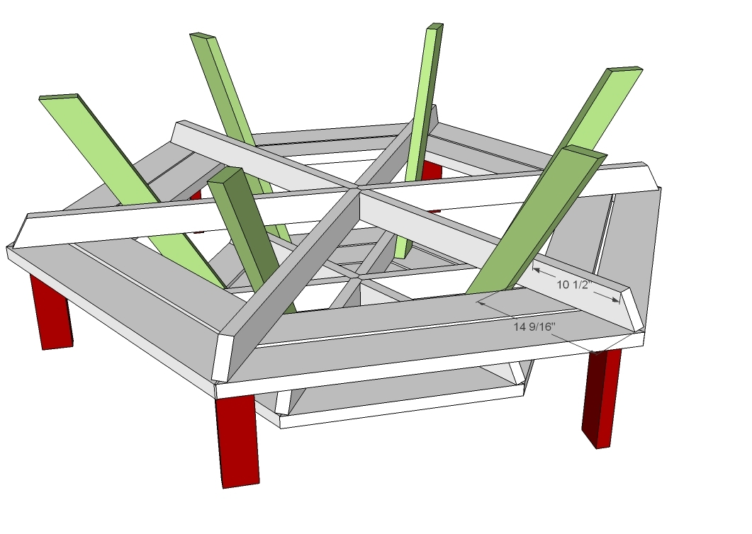 Free woodworking plans round picnic table quick - Folding picnic table plans free ...