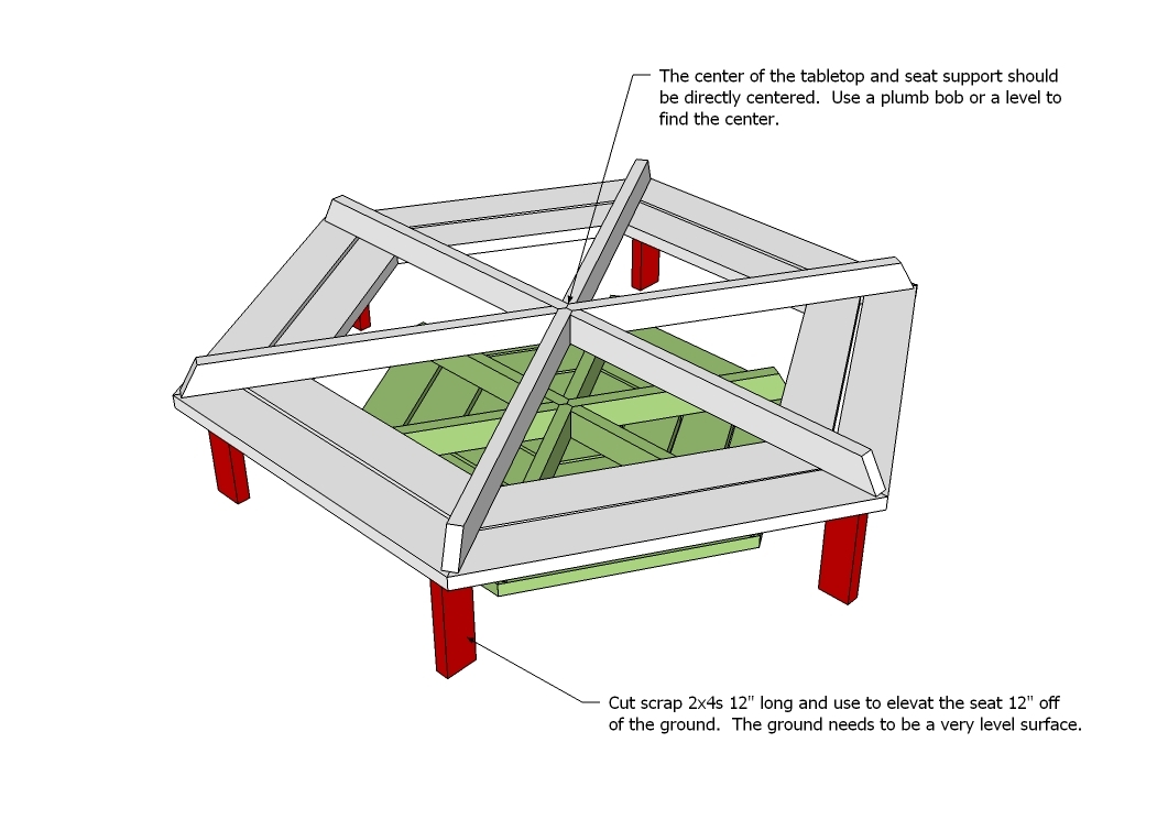Next Free octagon picnic table plans and drawings | My Ideas