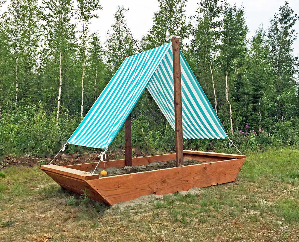 how to build a sailboat or ship sandbox beginner diy plans by ana