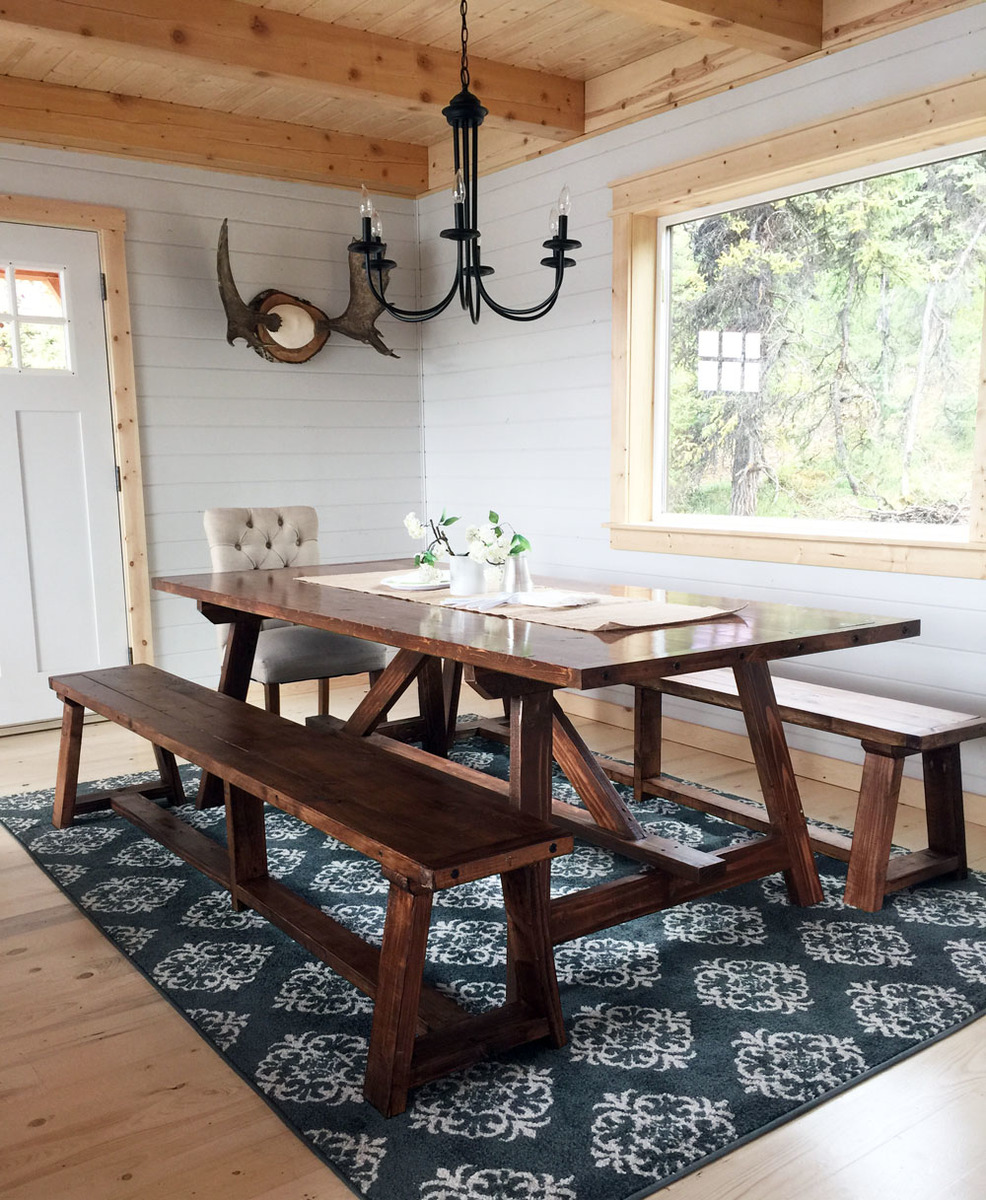 i really love the simple base that leaves plenty of room for seating  ana white   2x4 truss table for alaska lake cabin   diy projects  rh   ana white com