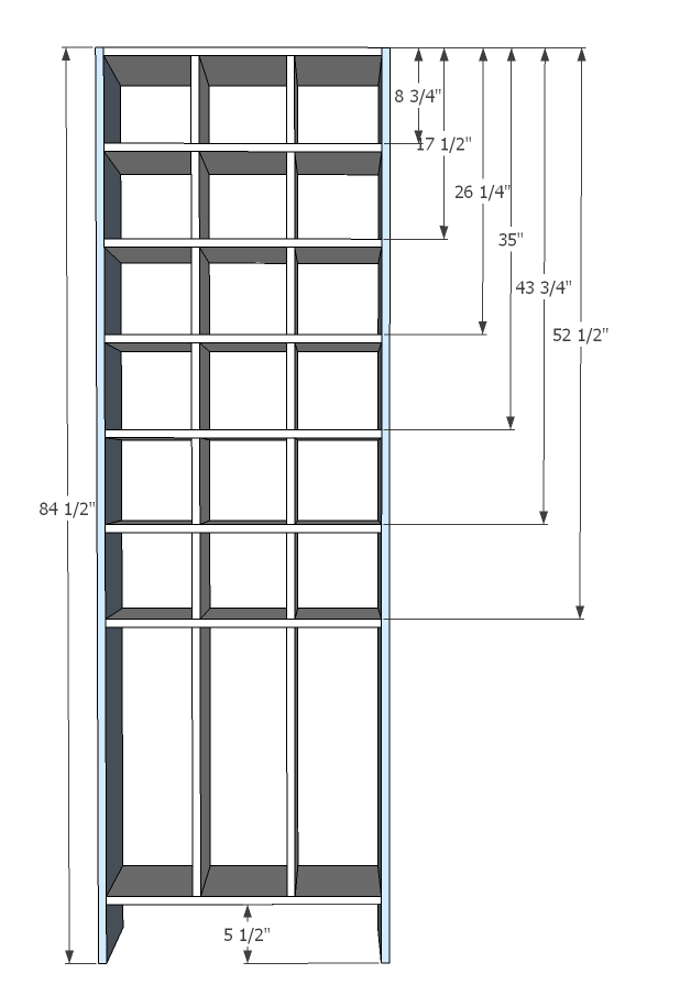 shoe rack design dimensions