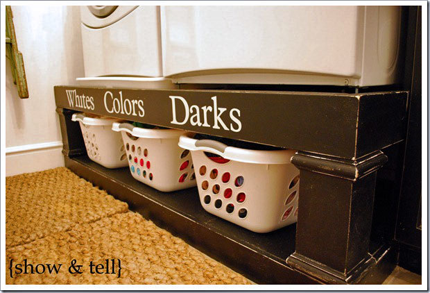 farmhouse laundry room washer dryer pedestal base