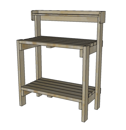 Plans for building a potting bench furnitureplans Potting bench ideas