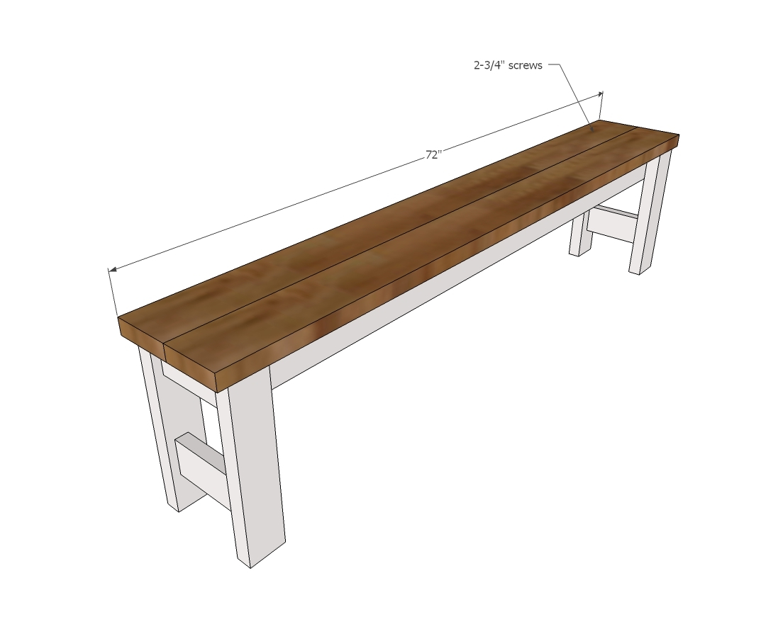 Picture of: Beginner Farm Table Benches 2 Tools 20 In Lumber Ana White