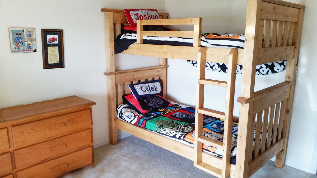 Picture of: Simple Bunk Beds Twin Over Twin Ana White