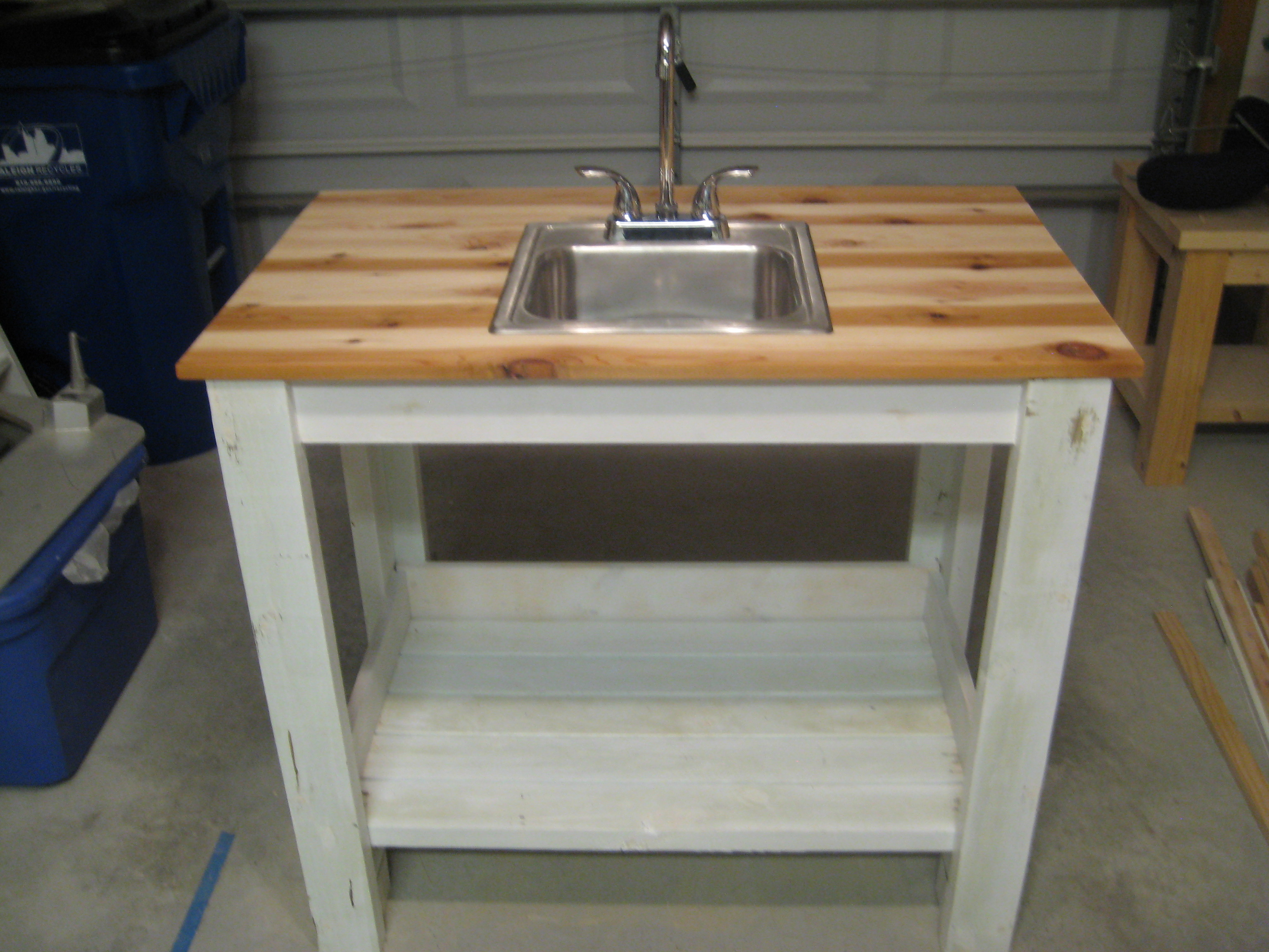 Ana White   My Simple Outdoor Sink - DIY Projects