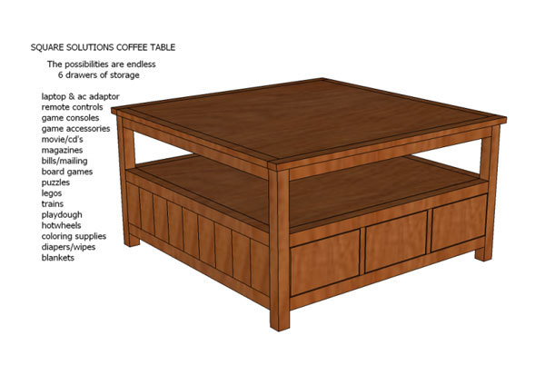 plan for coffee table