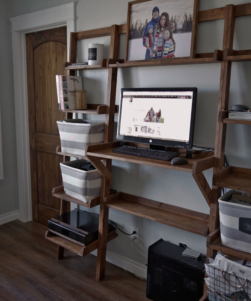 Chair And Desk Combo With Storage Bin