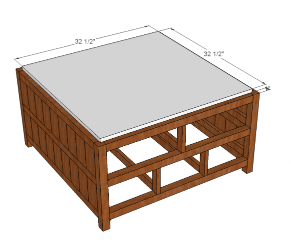 Square Coffee Table Size