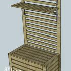 Bench for Outdoor Wall Panel System