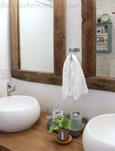 Reclaimed Wood Framed Mirrors Featuring The Space Between Ana White