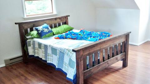 Simple Bed Full Size Frame Ana, How To Build Your Own Full Size Bed Frame