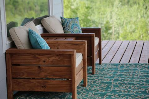Modern Outdoor Chair From 2x4s And 2x6s, Build Patio Furniture Plans