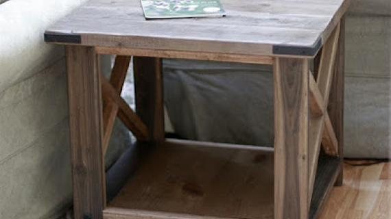 rustic x end table plans