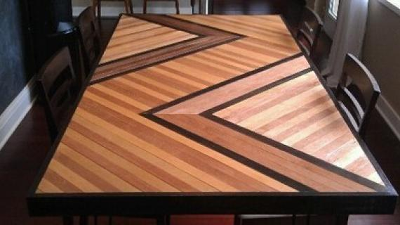 Chevron Pattern Dining Table Top