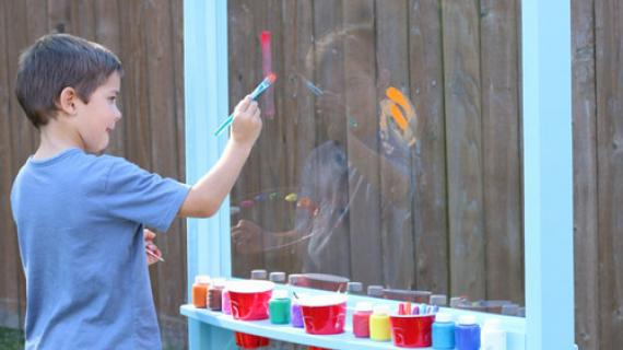 Kids Outdoor Painting Easel