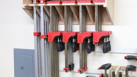 Clamp Storage Rack