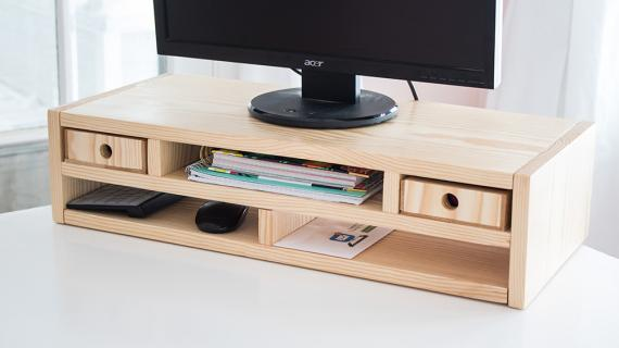 DIY Monitor Riser Desk Organizer