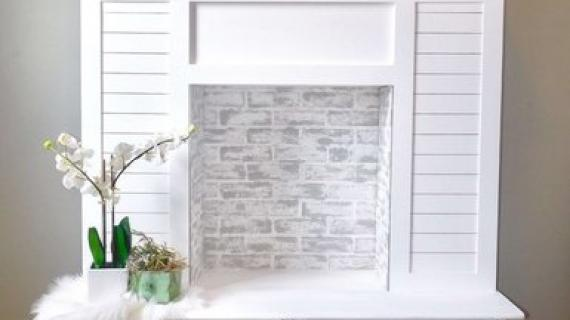 Faux Fireplace with Hidden Storage
