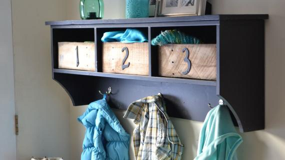 Entryway shelf ana white diy plans