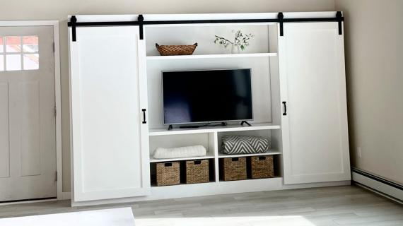 barn door entertainment center