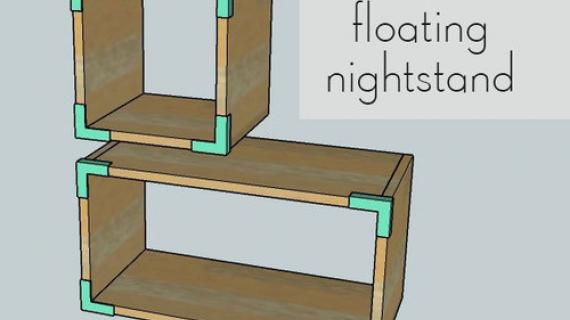 floating nightstand plans