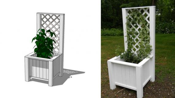 diy planter box with trellis