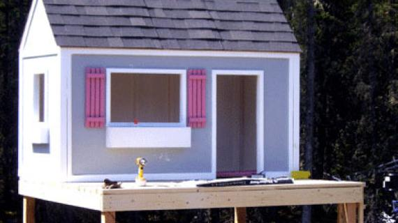 front wall of playhouse easy to build plans