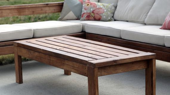 easy outdoor coffee table plans