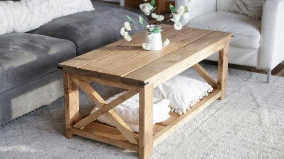 farmhouse coffee table plans