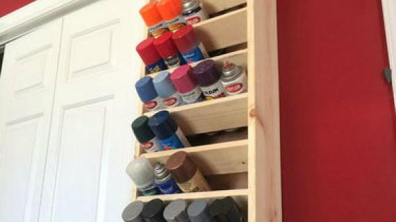 spray paint organizer
