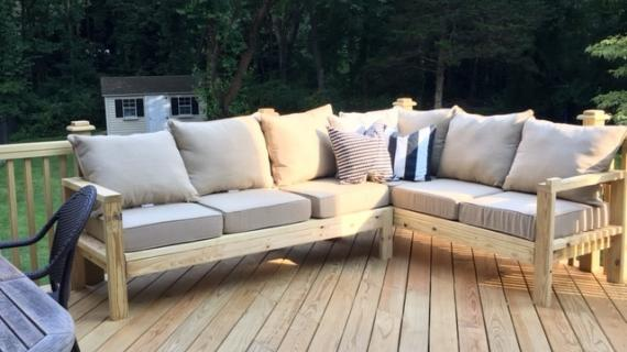 wood outdoor sofa plans