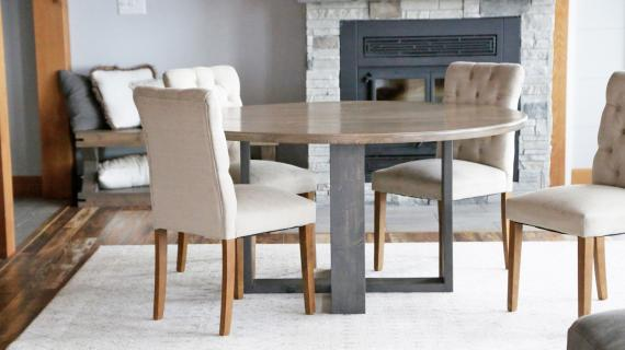 round modern dining table base