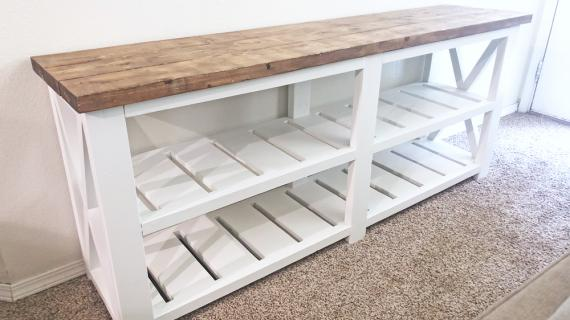 farmhouse console table diy