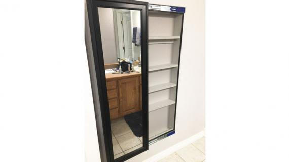sliding mirror wall cabinet