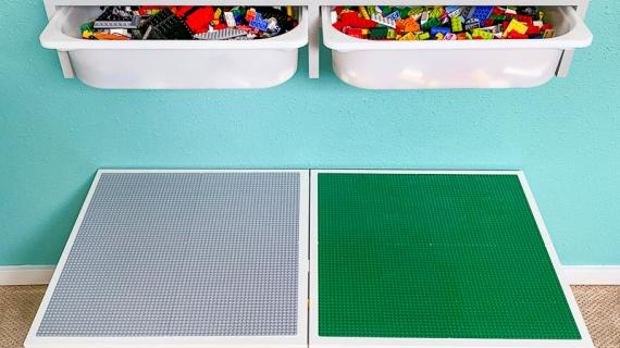 IKEA Trofast Bin Shelf over Lego Table